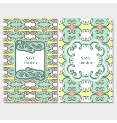 Set of card templates vector image