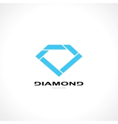 Symbol of diamond vector
