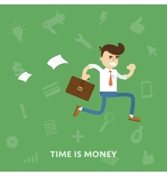 Time is money business concept flat vector image vector image
