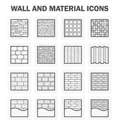 Wall icon vector