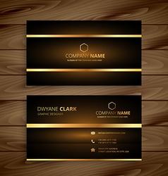 Premium luxury business card design vector