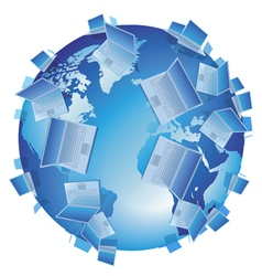 Computer world isolated vector