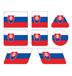 Buttons with flag of slovakia vector
