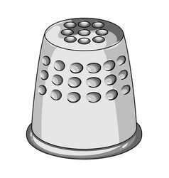 A thimble to protect your fingers when sewing vector