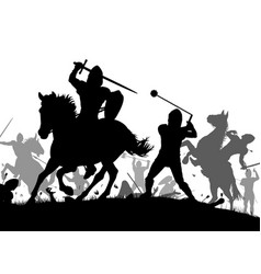 medieval war vector image