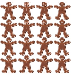 Ginger bread people pattern vector