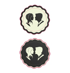Cameo couple vector