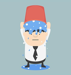 Ice bucket challenge business fat vector