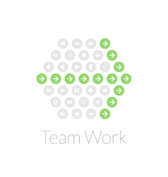 Team work flat design concept vector