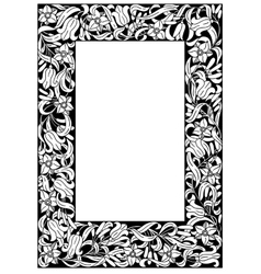 Fairy-tale flower frame retro vintage gothic style vector