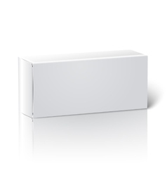 Realistic white blank paper package box vector