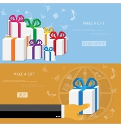 Online shopping gifts concept vector