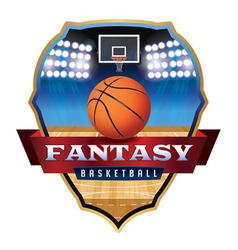 Fantasy basketball badge vector