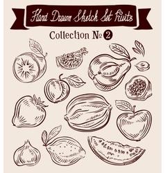 Fruit hand-drawn doodle set vector