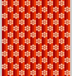 flowers on red lines vector image