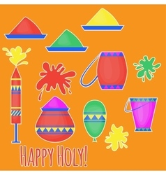 Indian holi traditional festival of colours vector