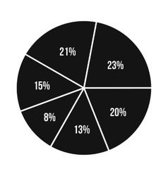 Percentage diagram icon flat style vector