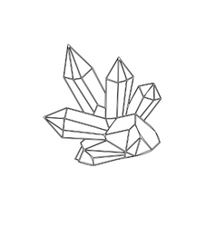 Crystal outline vector