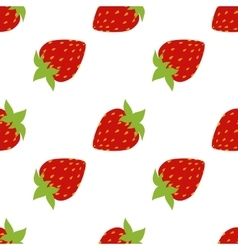 Seamless of strawberries vector