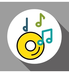 Graphic design of music vector