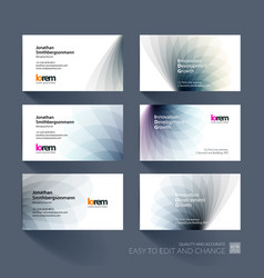 Business card template with soft shapes and vector