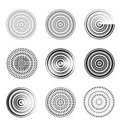 Abstract circle element concentric circles vector