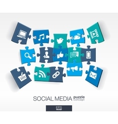 Abstract social media background with connected vector image vector image