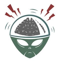 Alien Brain vector image