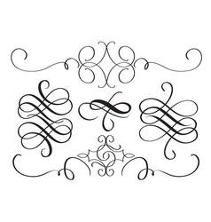 art calligraphy flourish of vintage decorative vector image vector image