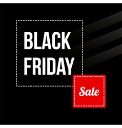 Black friday sale card modern banner template vector image