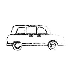 Blurred silhouette small automobile vehicle vector