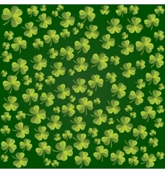 Clover leaves pattern background for st vector