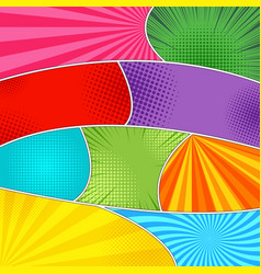 comic book wavy backgrounds set vector image