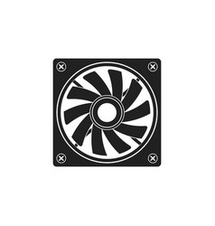 computer air fan cooler vector image vector image