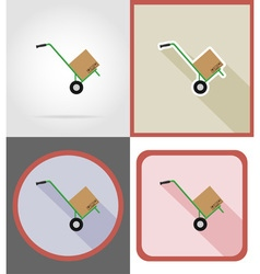 Delivery flat icons 14 vector