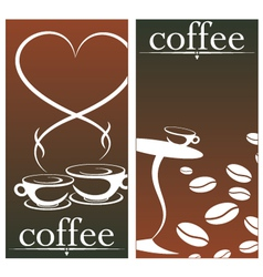 design for coffee shop vector image