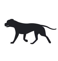 dog black silhouette profile view icon vector image