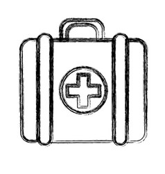 Figure first aid kit medications tools vector