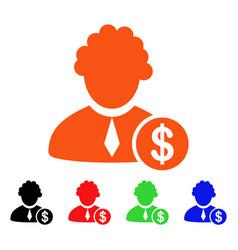 financial judge icon vector image