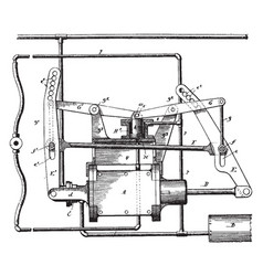 fluid pressure brake apparatus vintage vector image