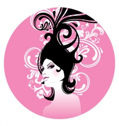 hair women vector image vector image
