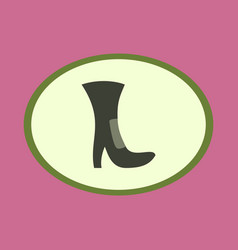 Icon in flat design fashion footwear high-heeled vector