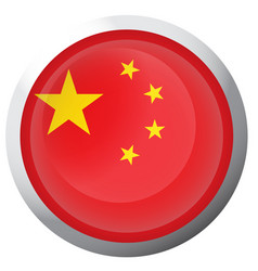 Isolated flag of china vector