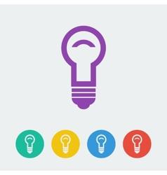 lamp flat circle icon vector image