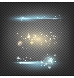 Lighting flare special effect vector