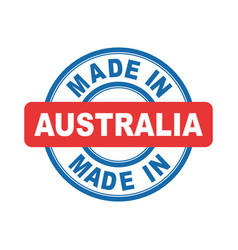 Made in australia emblem flat vector