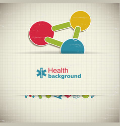Medicine paper background vector