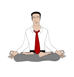 Office yoga vector image