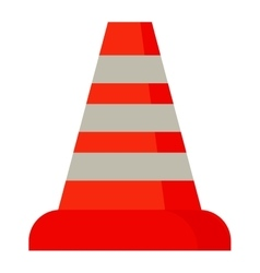 Road cone with stripes attention symbol vector image