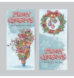 Set of vertical banners with the image of vector image